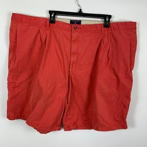 Saddlebred Pleated Shorts Sz 50 Red Casual